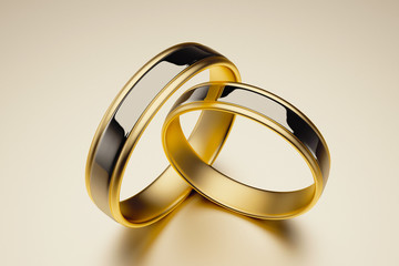Ring - Wings - Love - Married -Valentine - Gold