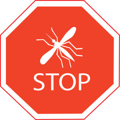 mosquito sign vector