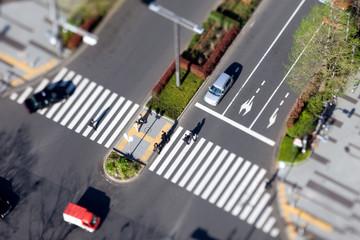 Zebrastreifen in Tokyo - Reale Tiltshift Aufnahme, kein Modell