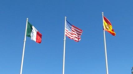Couleurs des USA, de l'Italie et de l'Espagne