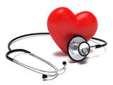 Stetoscopio e cuore rosso - 24650194