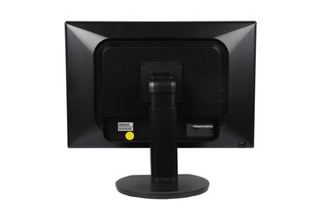 computer LCD monitor on the back