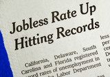 Jobless rate is up and hitting the record concepts poor economy poster