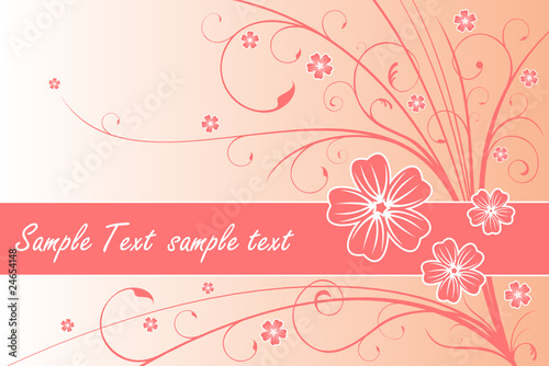 Floral Flower Card with text space