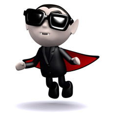 3d Dracula arrives wearing shades