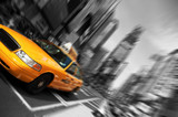 Fototapety New York City Taxi, Blur focus motion, Times Square