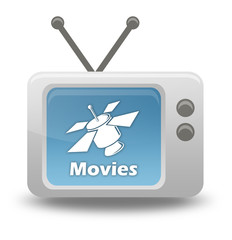 "Cartoon-style TV Icon ""SAT TV - Movies"""