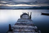 Fototapeta niebieski - most - Jezioro / Staw