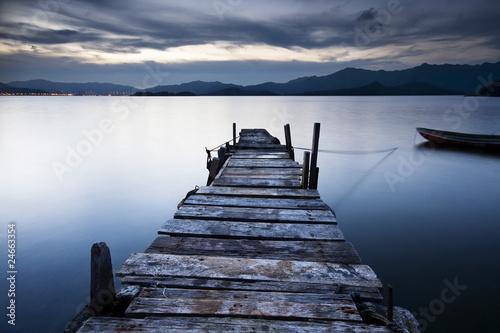 Obraz na Plexi jetty sunrise