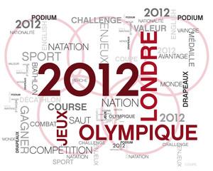 2012 londre, mots image sur le théme des jeux olympique