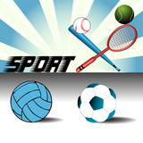 Sport items poster