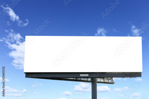 Blank billboard - 24665352