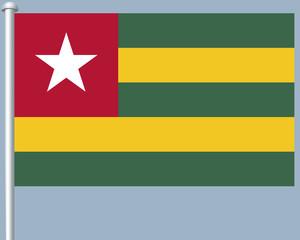 Flaggenserie-Westafrika-Togo