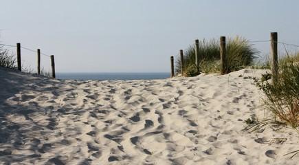 Strandaufgang an der Nordsee