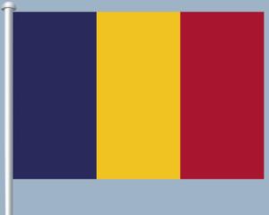 Flaggenserie-Zentralafrika-Tschad