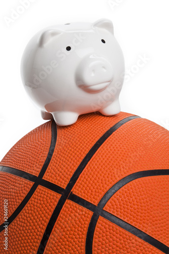 Piggy Bank and basketball
