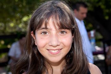 Portrait d'une jeune adolescente