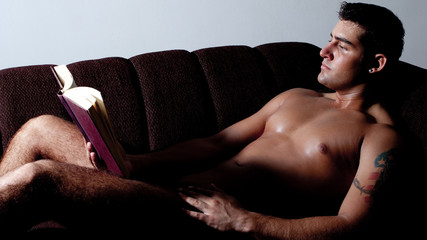 Man Reading Nude