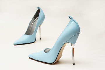 blaue pumps high heels