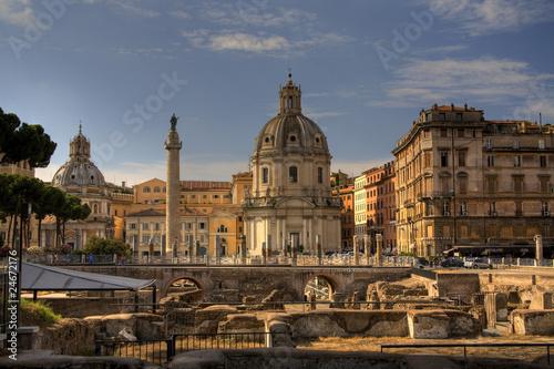 Leinwanddruck Bild Foro Traiano, Roma