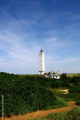 Leinwandbild Motiv Leuchtturm von Blavand in Dänemark