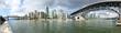 Skyline von Vancouver mit Granville Bridge, Kanada