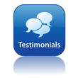 TESTIMONIALS Web Button (kudos business speech bubbles vector)