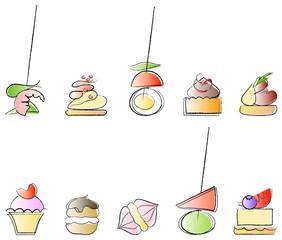 Sweet and savoury canape set