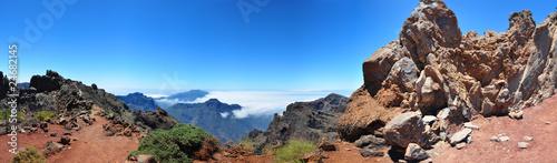 Leinwanddruck Bild Roque de los Muchachos, Insel La Palma