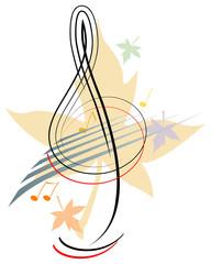 Treble clef - Autumn