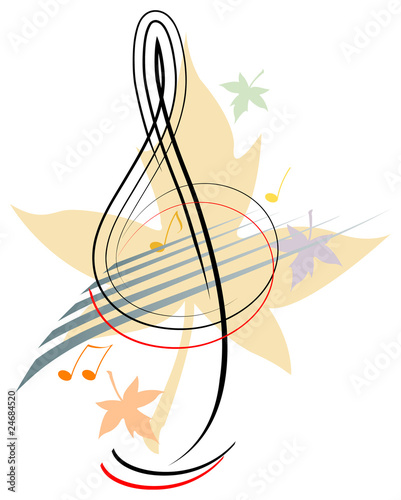 Treble clef - Autumn
