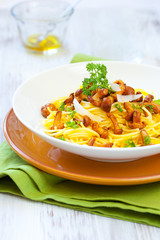pasta with chanterelles