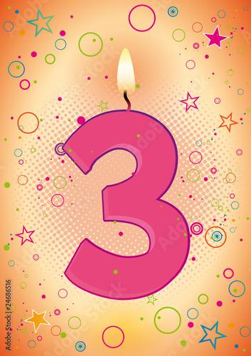 Anniversaire des 3 ans pour les filles fichier vectoriel libre de droits sur la banque d - Anniversaire 3 ans fille ...