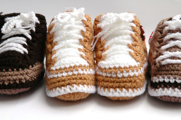 yarn choes for baby