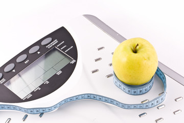apple and measuring objects