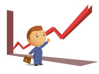 Success businessmen thumb up