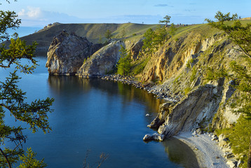 Olkhon island on Baikal Lake