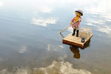 fährmann auf stillen Gewässern
