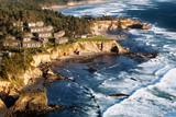 Coast landscape with Condominiums poster