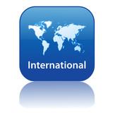 INTERNATIONAL Web Button (world map global travel worldwide go) poster