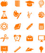 Huge education icon set