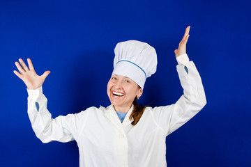 positive cook woman