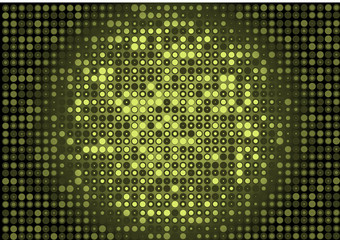 Green vector background glittering wall illustration