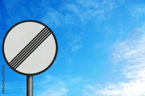 Photo realistic 'no limits' sign, with space for your text