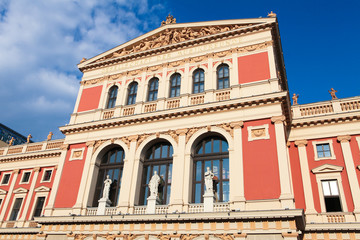 Musikverein in Vienna, famous concert hall of classical music