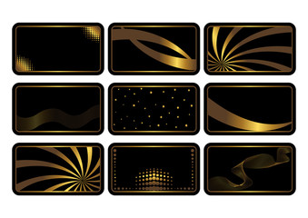 Set of black cards. Vector.