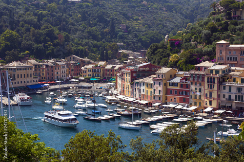 colofull harbour of portfino italy