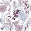 roleta: seamless floral pattern