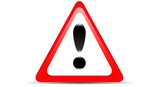 Warning Red Triangular Sign poster