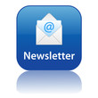 NEWSLETTER Web Button (information customer news icon at sign)